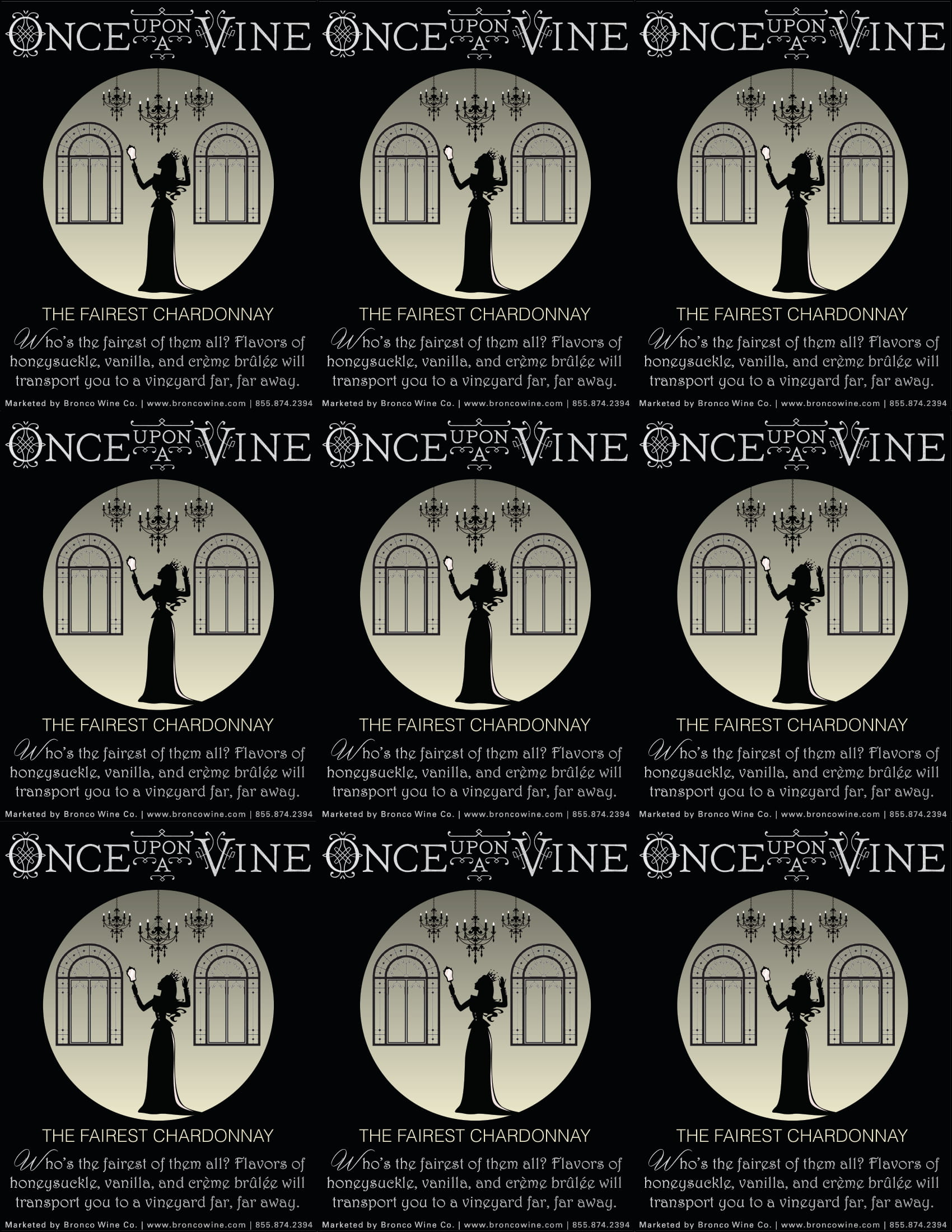 Once Upon A Vine The Fairest Chardonnay Shelf Talker