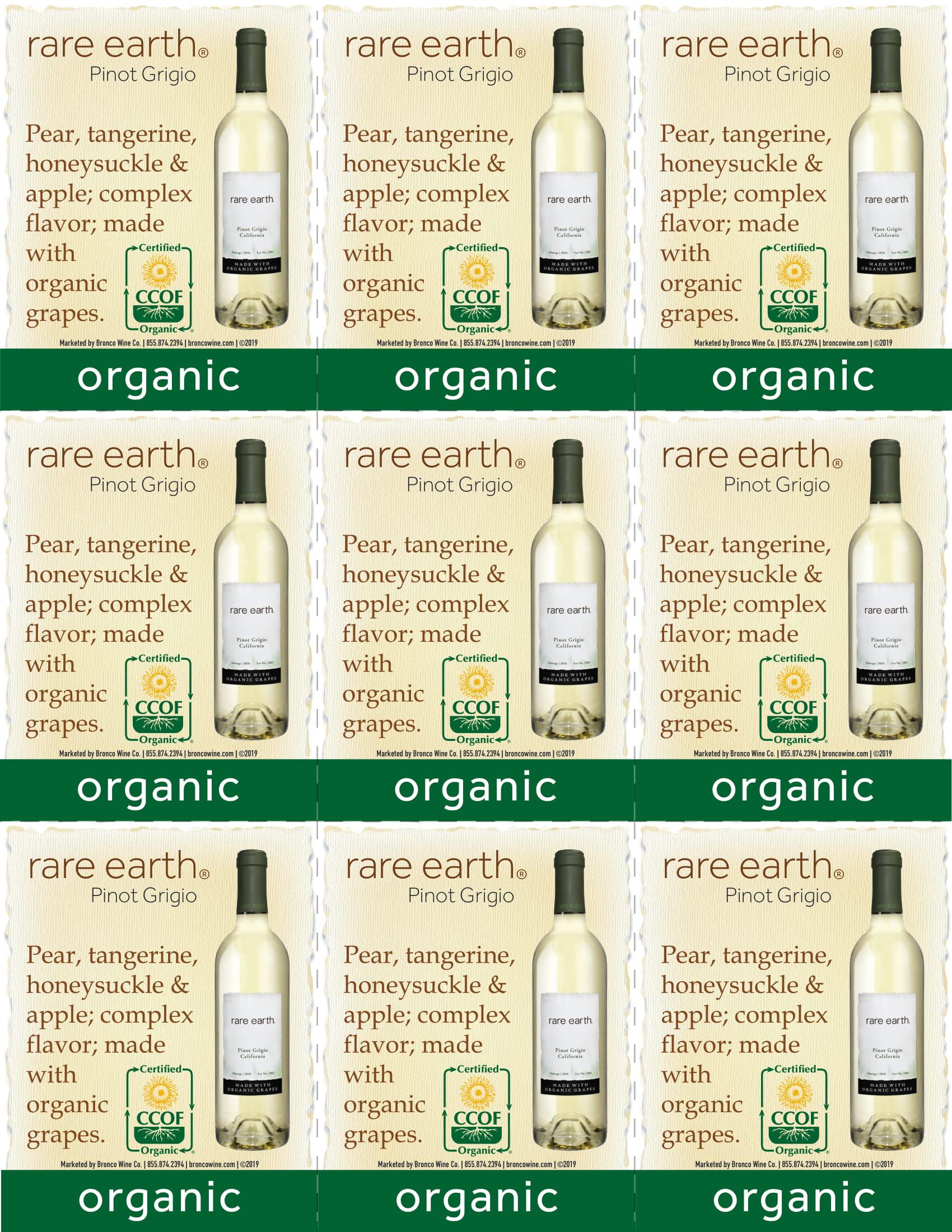 Rare Earth Pinot Grigio Shelf Talker