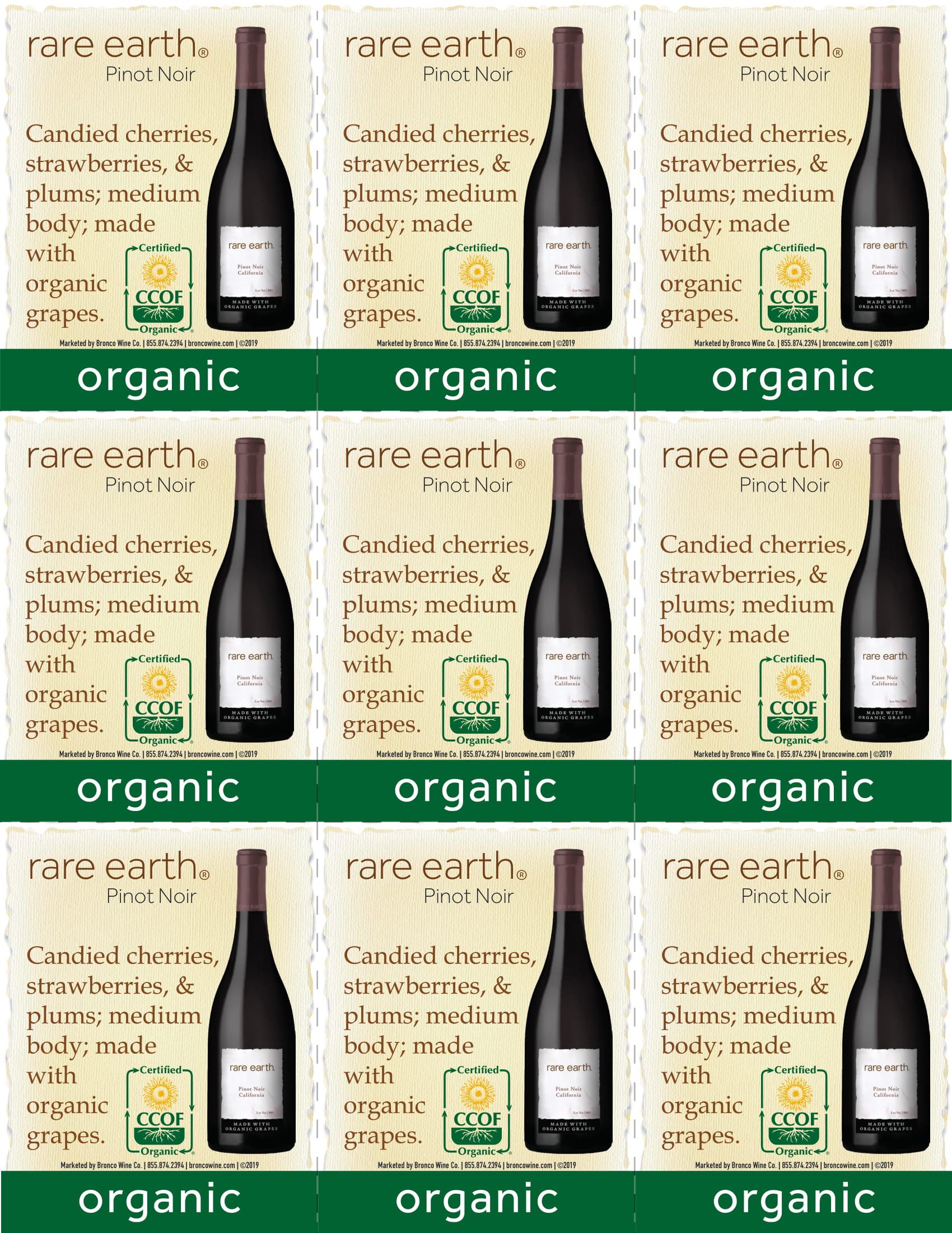 Rare Earth Pinot Noir Shelf Talker