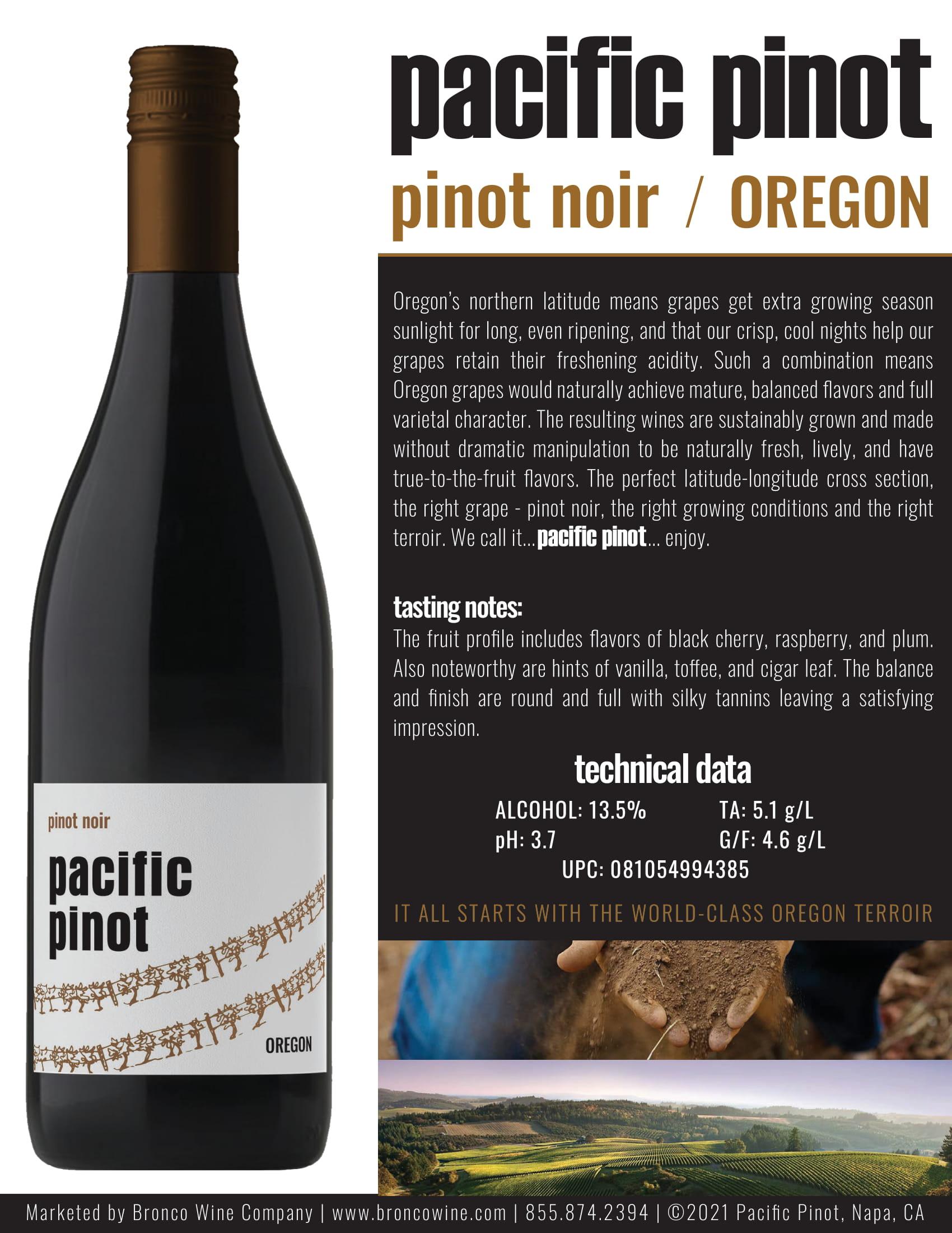 Pacific Pinot Pinot Noir Tech Sheet