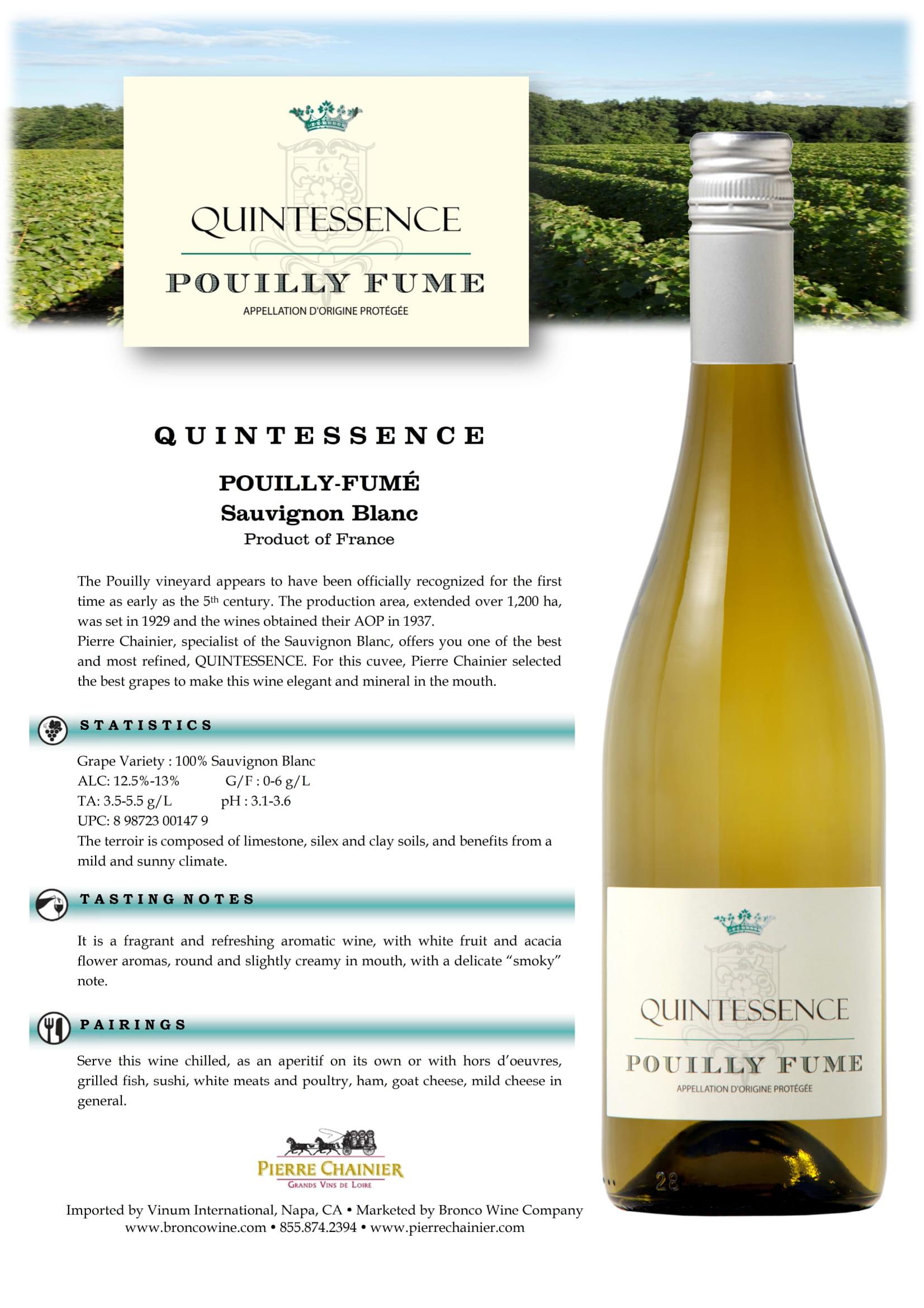 Quintessence Sauvignon Blanc Tech Sheet