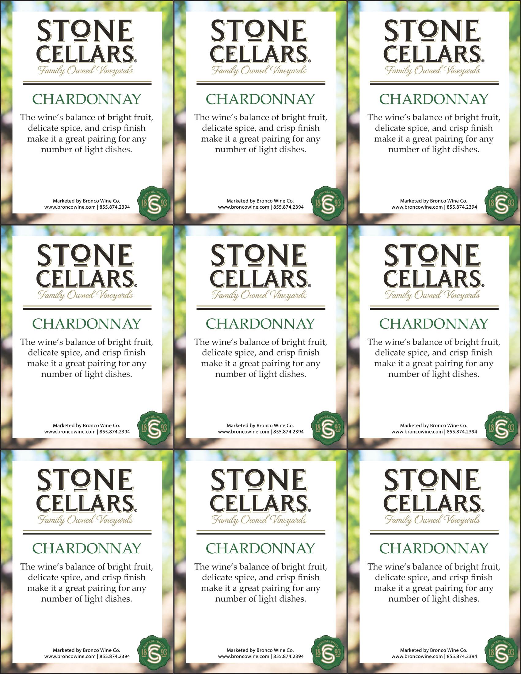 Stone Cellars Chardonnay Shelf Talker
