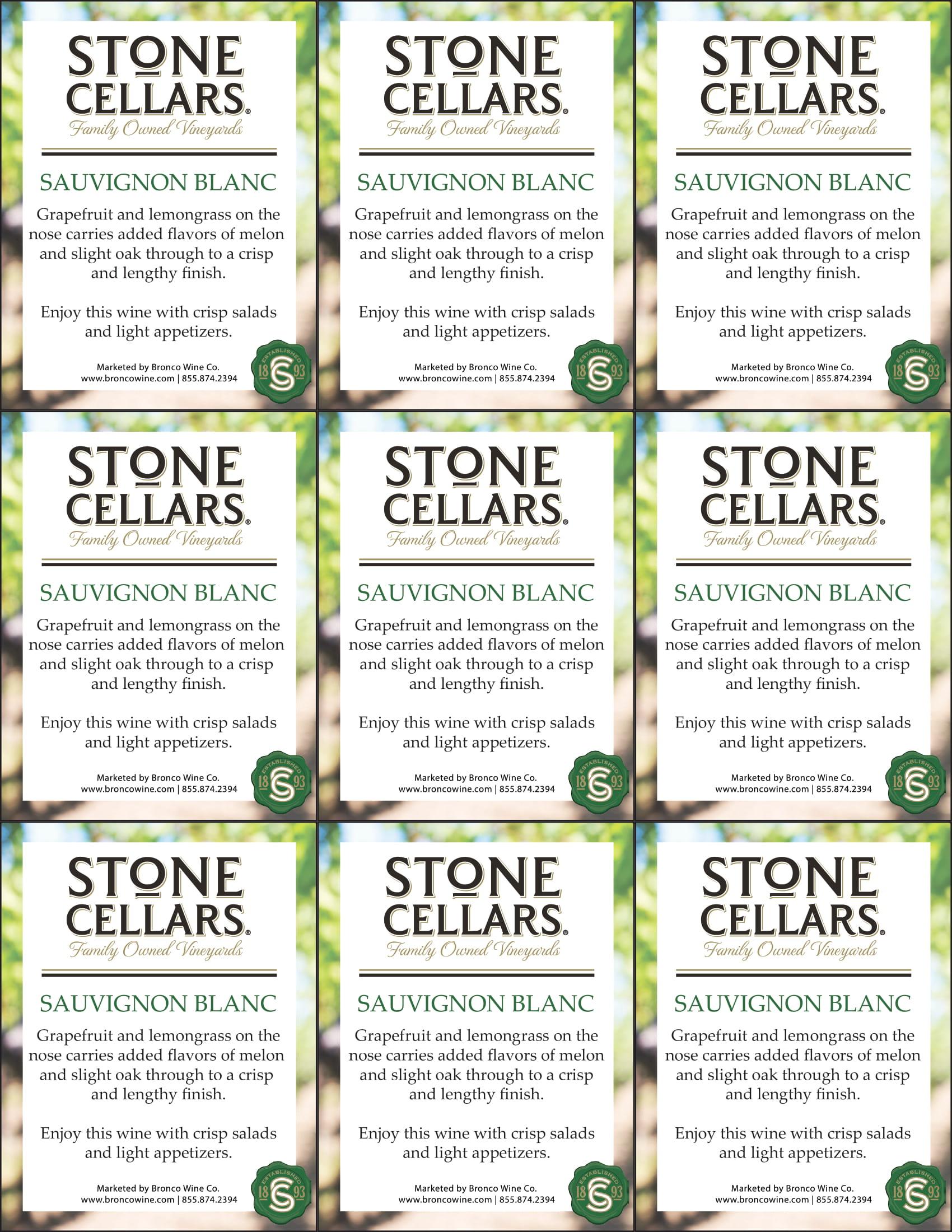 Stone Cellars Sauvignon Blanc Shelf Talker