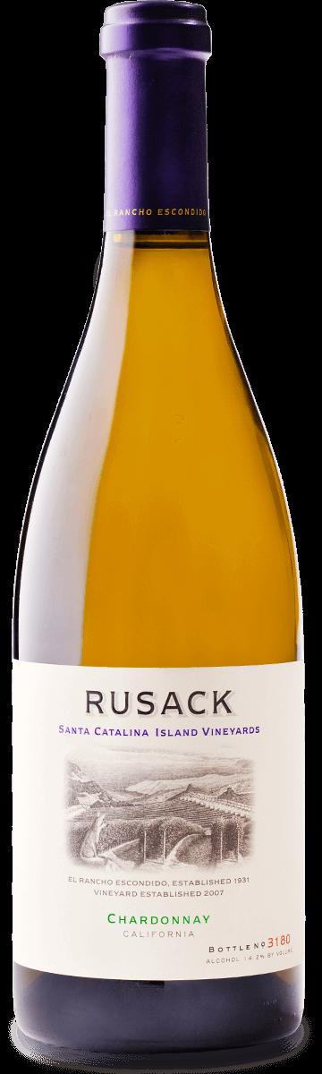Rusack Vineyards Chardonnay Santa Catalina Island Bottleshot