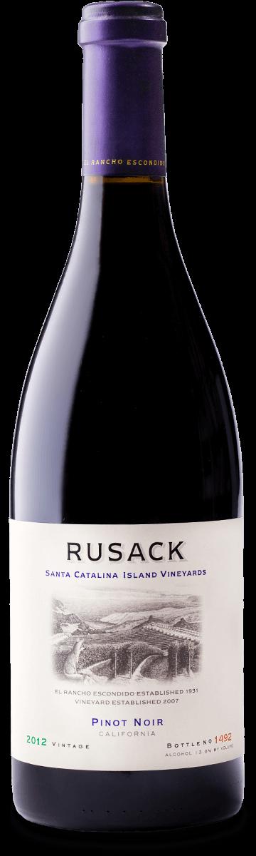 Rusack Vineyards Pinot Noir Santa Catalina Island Bottleshot