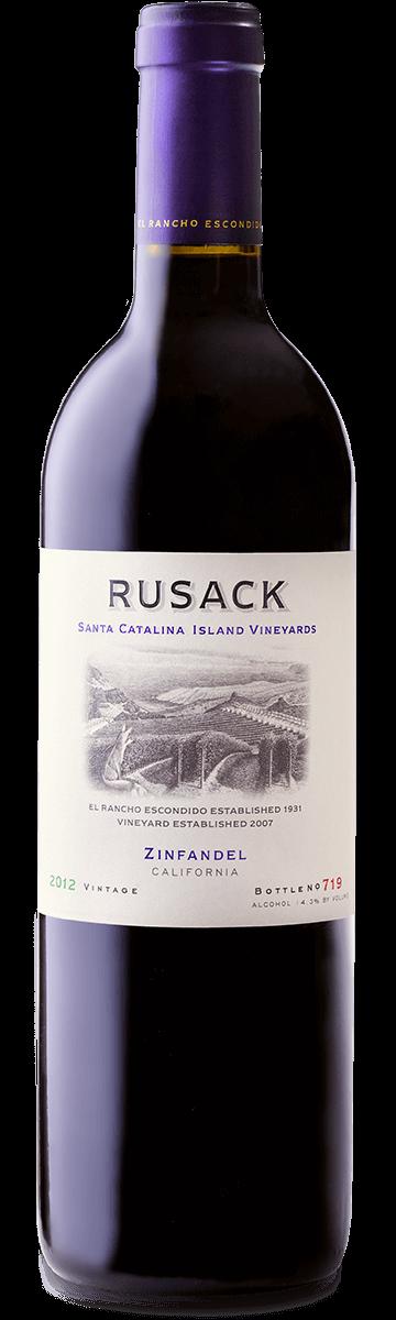 Rusack Vineyards Zinfandel Santa Catalina Island Bottleshot