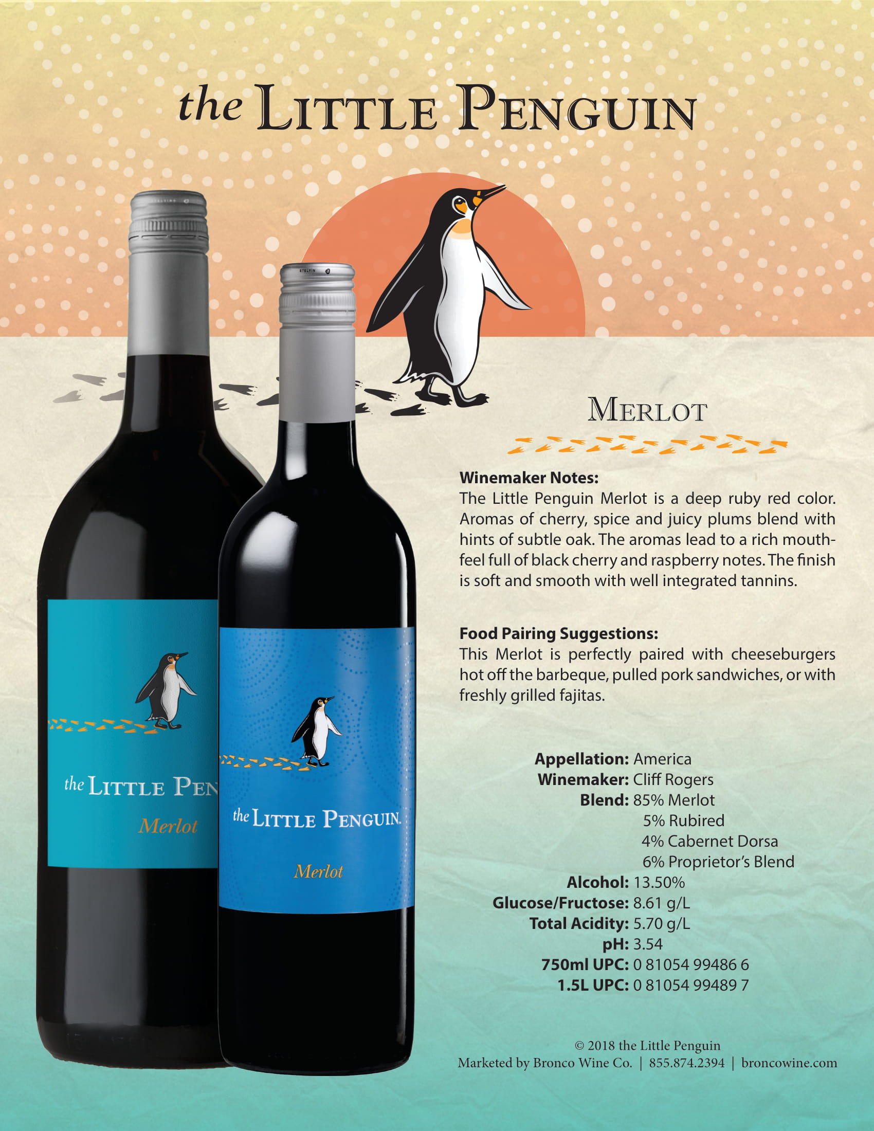 The Little Penguin Merlot Tech Sheet