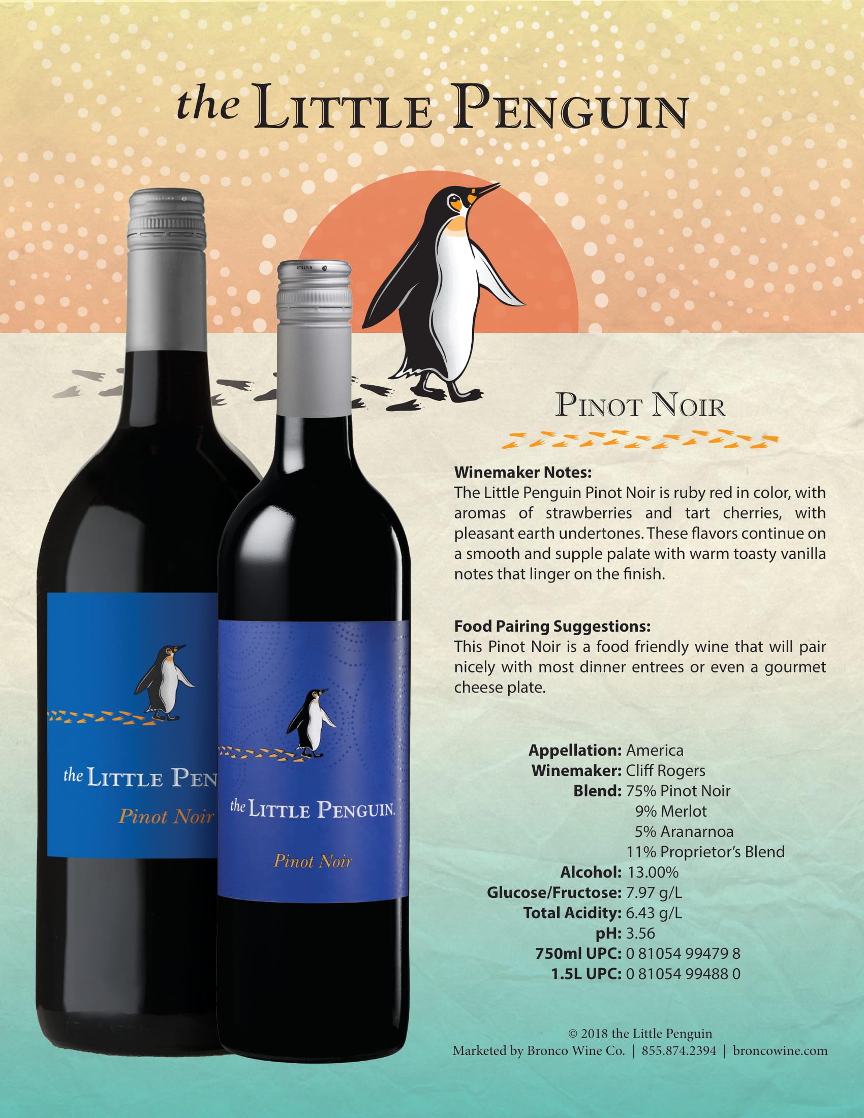 The Little Penguin Pinot Noir Tech Sheet