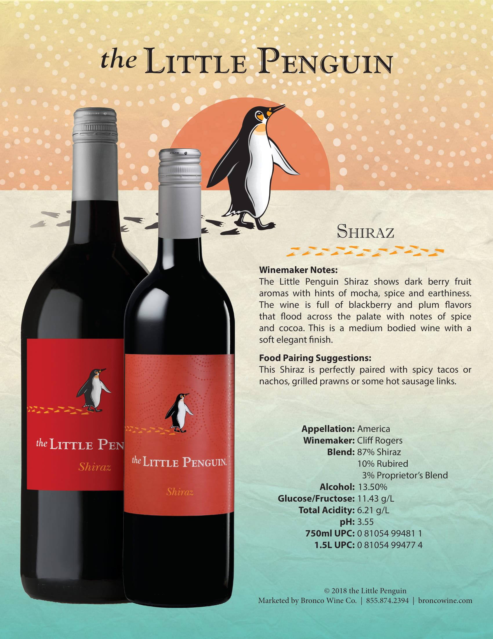 The Little Penguin Shiraz Tech Sheet