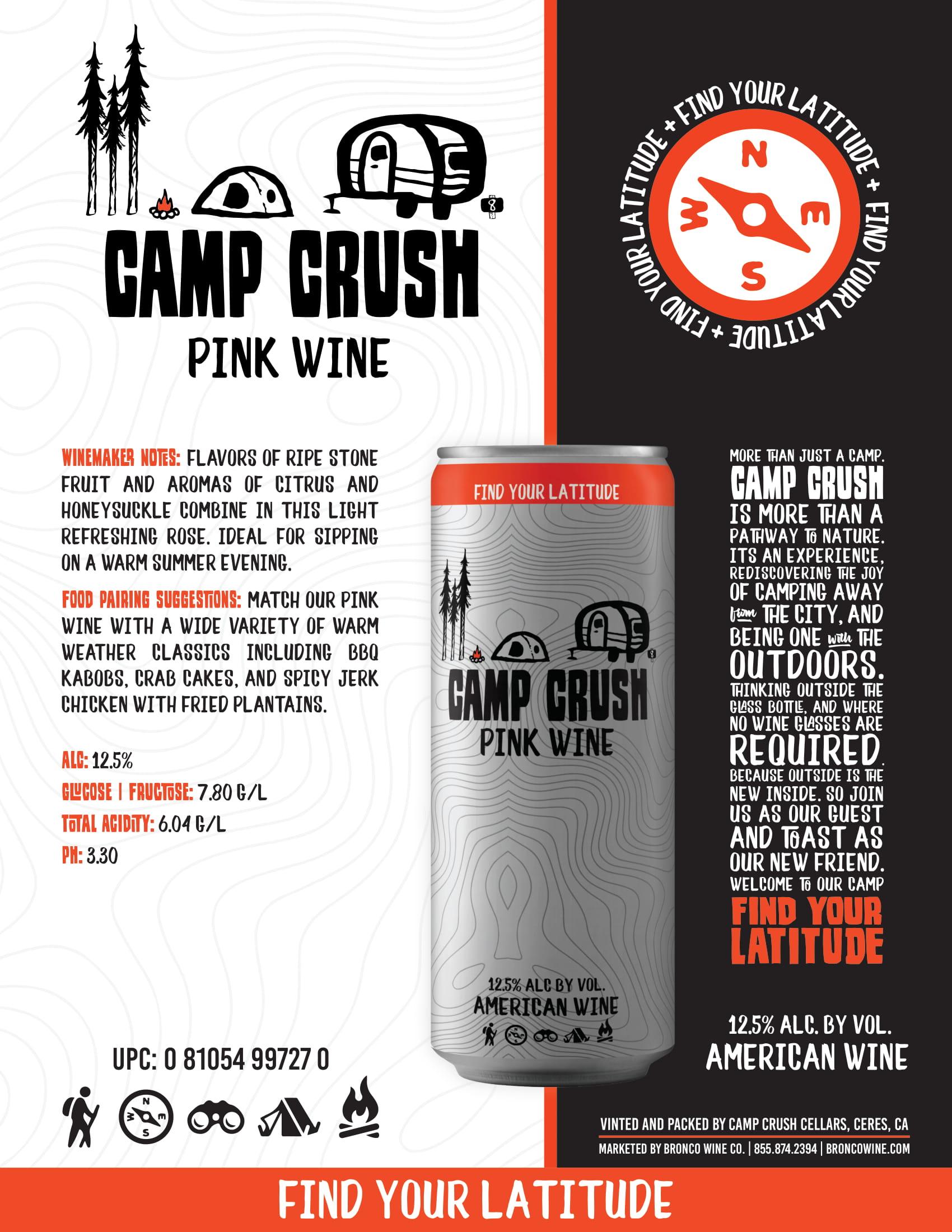 Camp Crush Pink Wine Sell Sheet