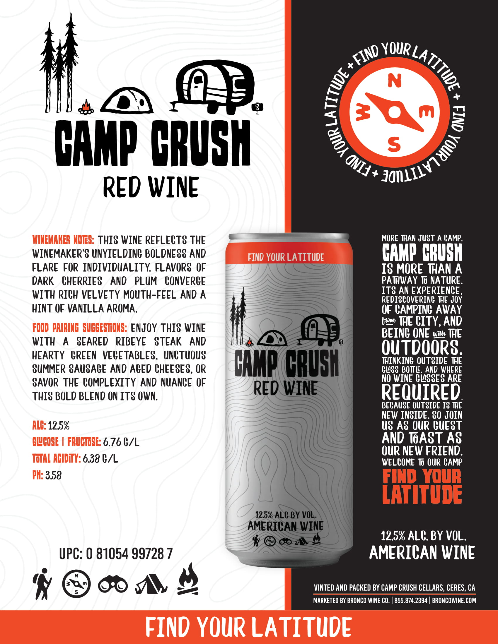Camp Crush Red Wine Sell Sheet
