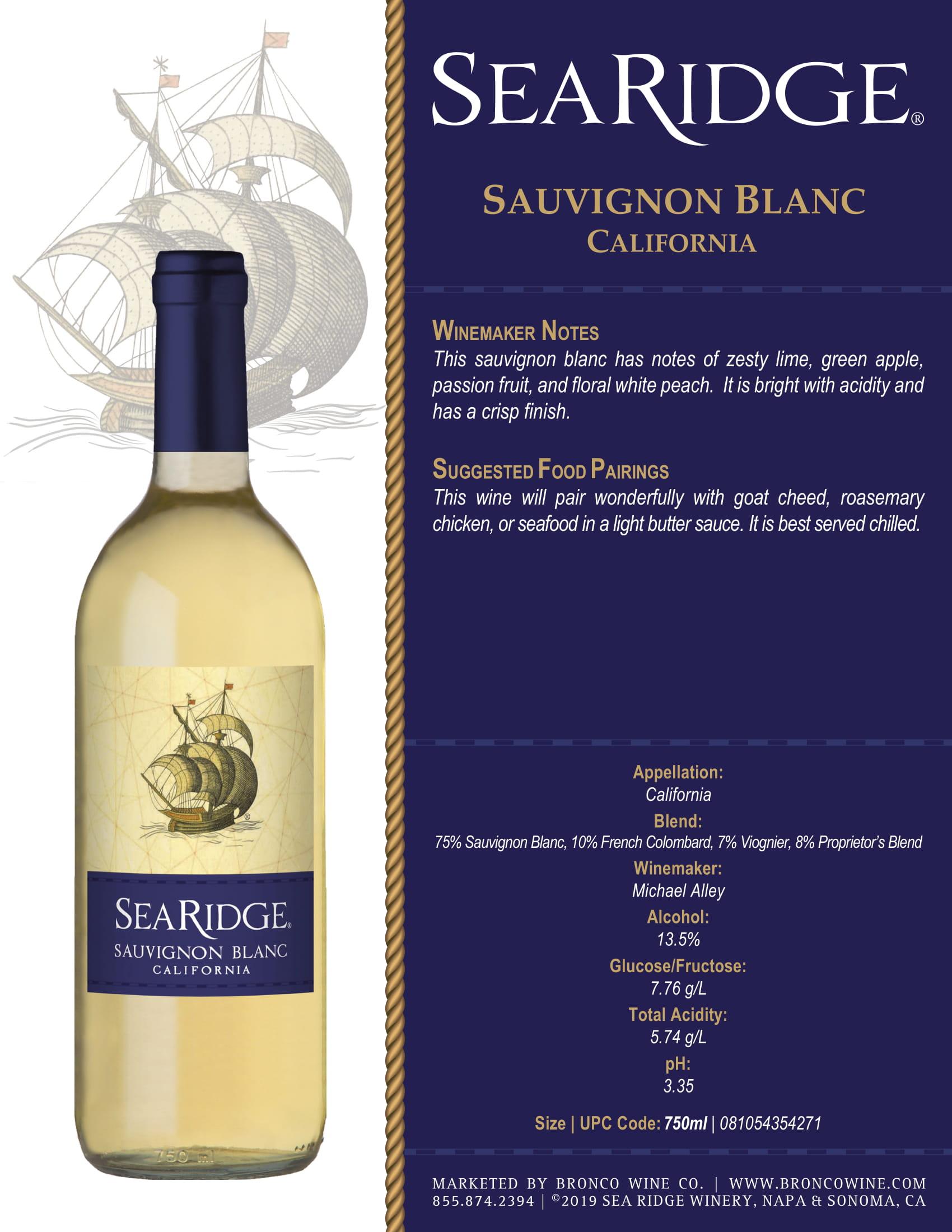 Sea Ridge Pinot Noir Sell Sheet
