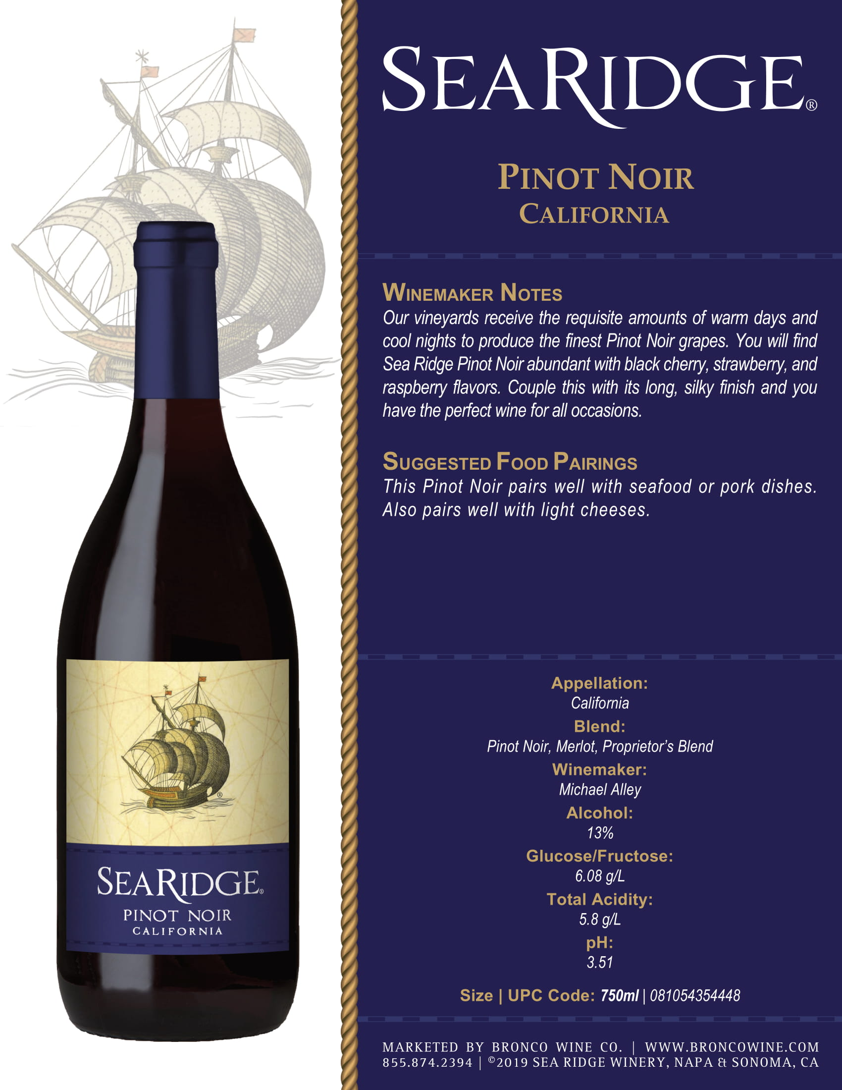 Sea Ridge Sauvignon Blanc Sell Sheet