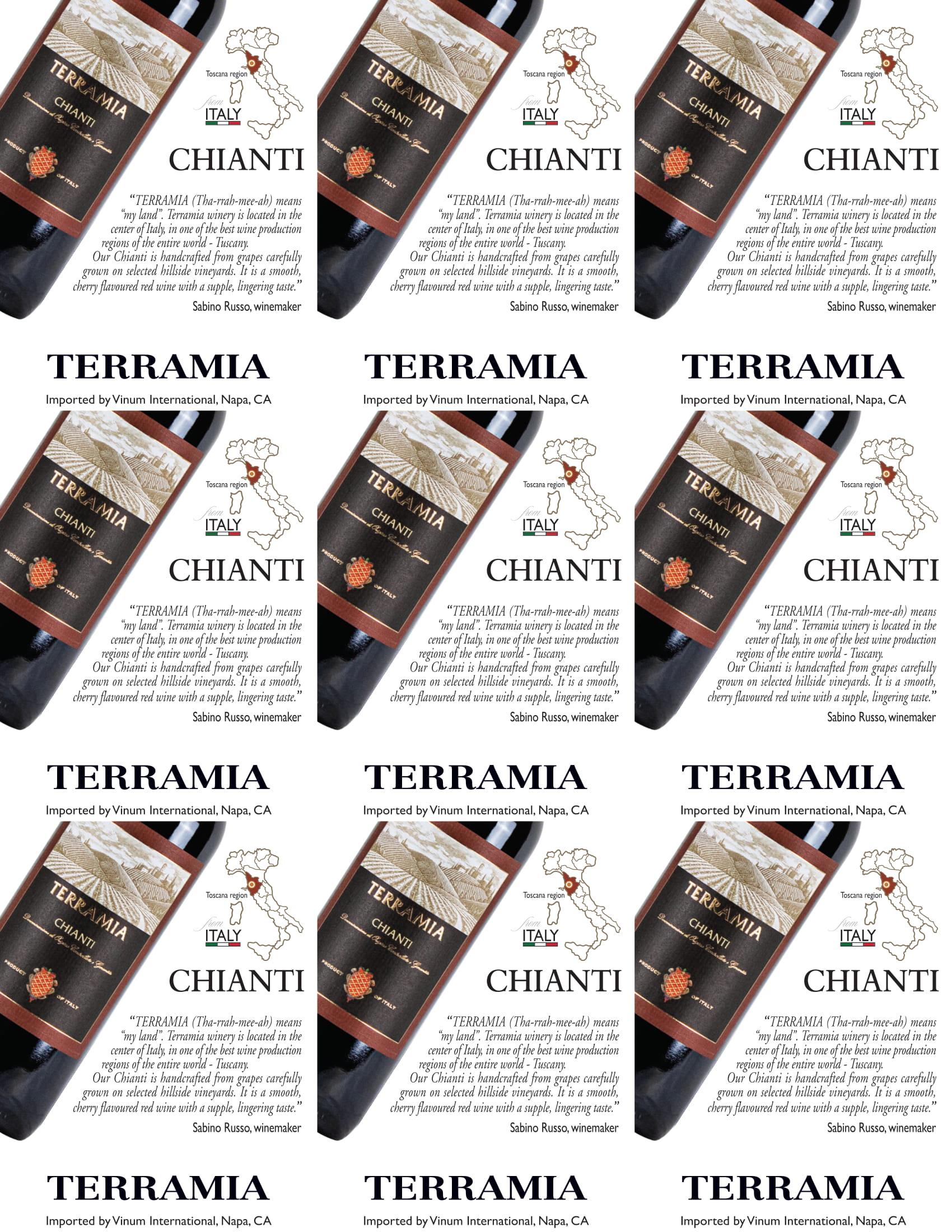 Terramia Chianti Shelf Talker