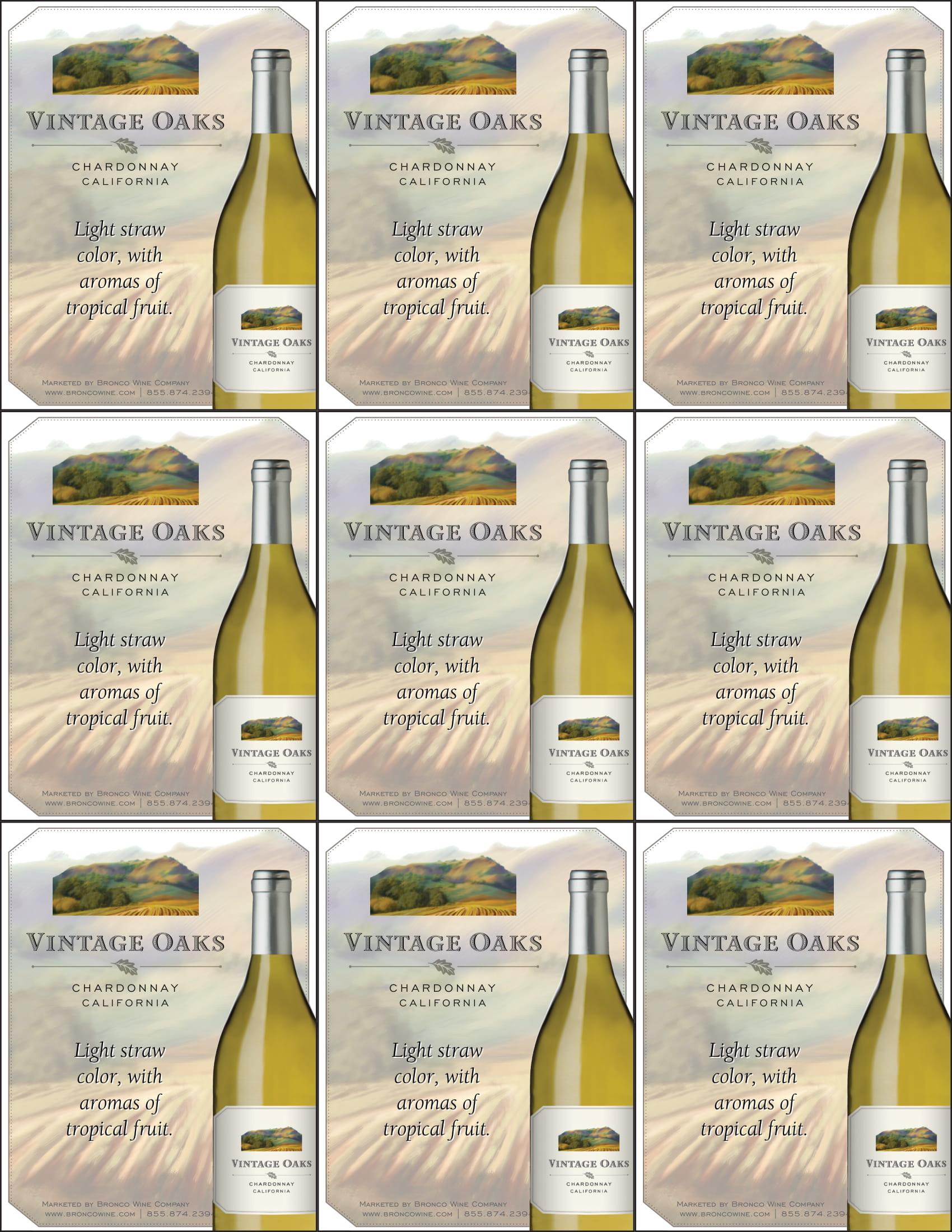 Vintage Oaks Chardonnay Shelf Talker
