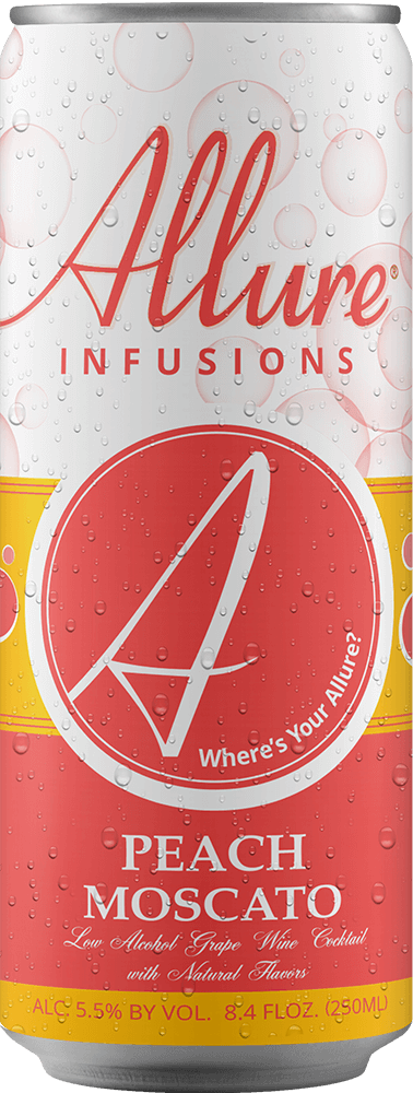 Allure Infusions Peach Moscato Can