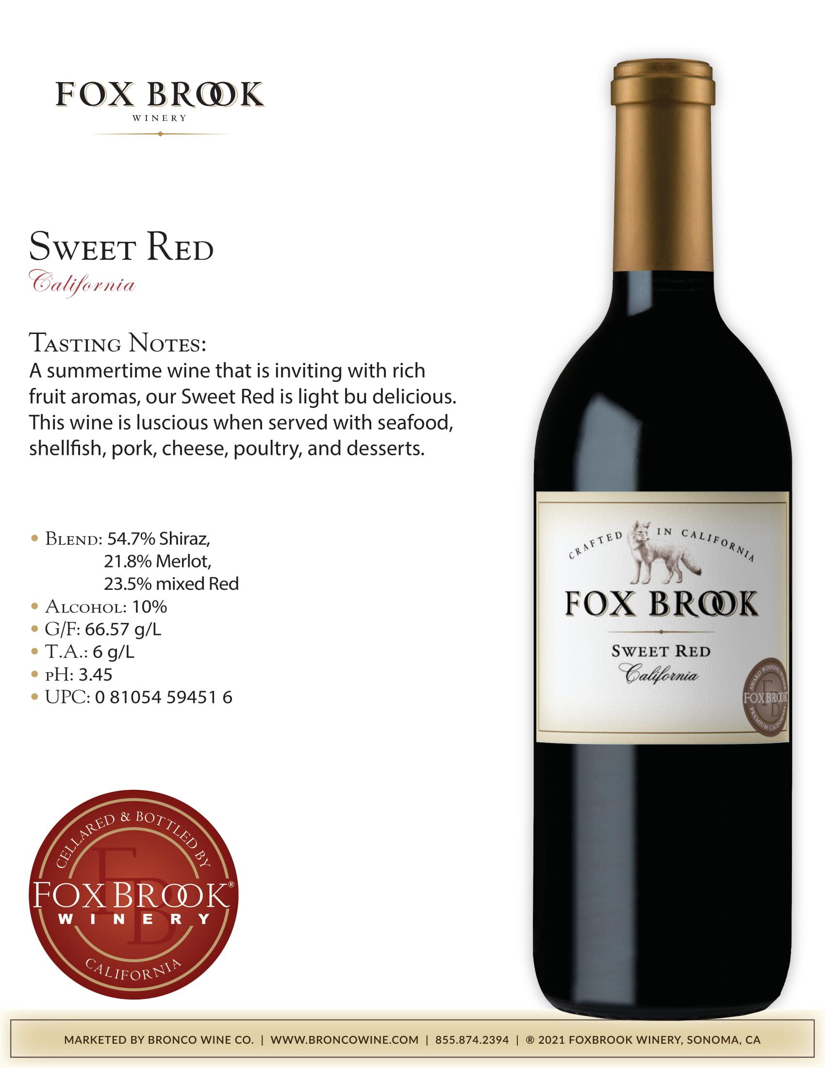 Fox Book Sweet Red Tech Sheet