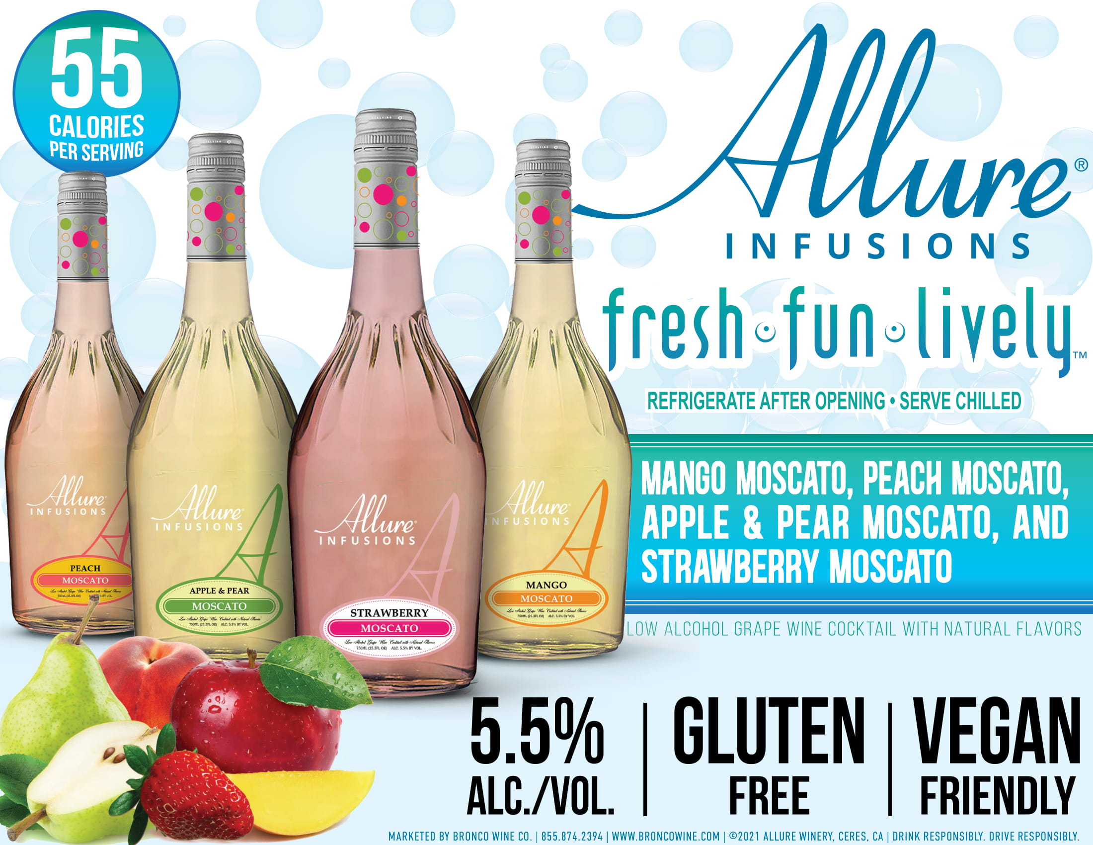 Allure Infusions 750ml Family Sell Sheet