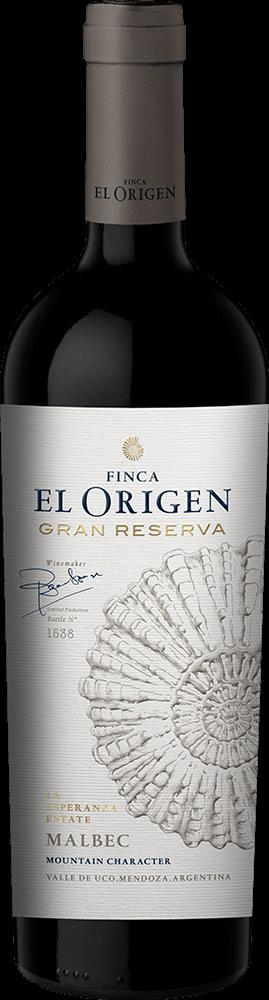 Finca El Origen Gran Reserva Malbec Bottleshot