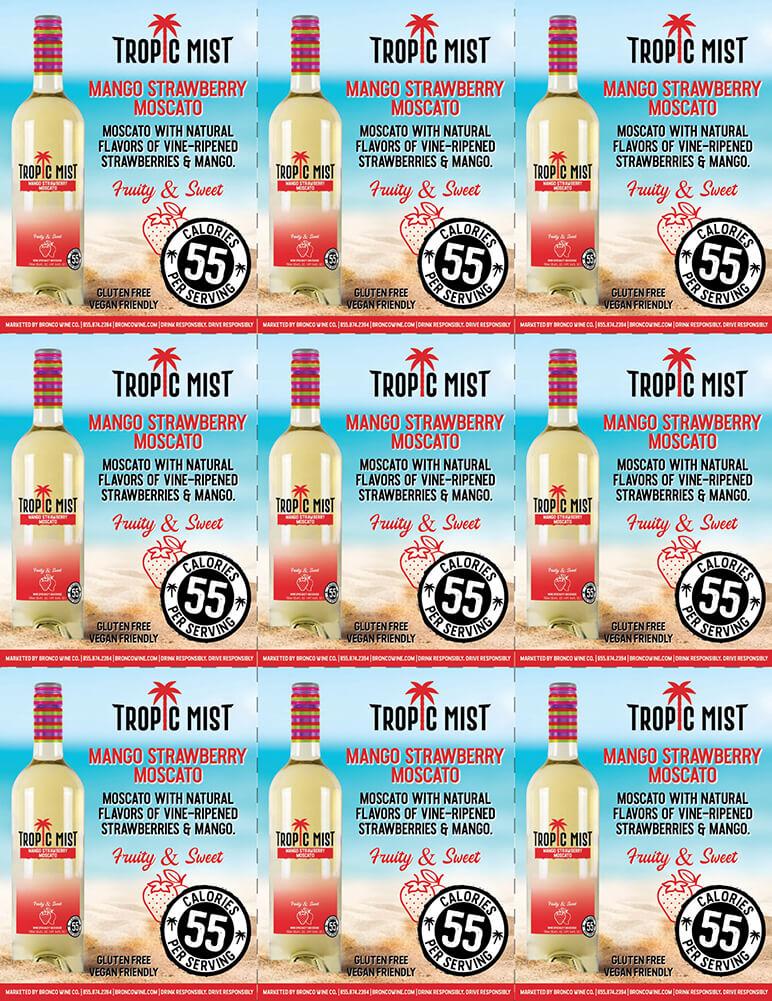 Tropic Mist Mango Strawberry Moscato Shelf Talkers