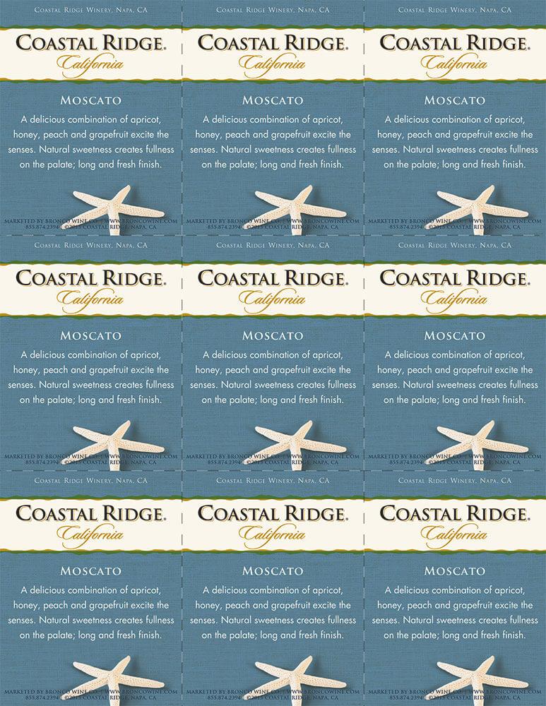 Coastal Ridge Moscato Shelf Talker