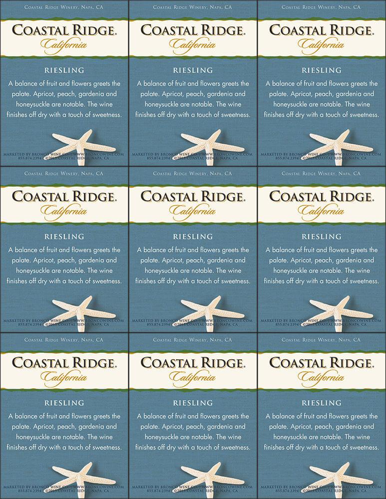Coastal Ridge Riesling Shelf Talker