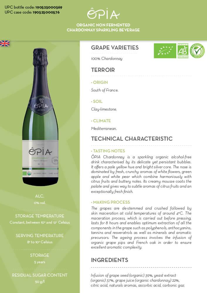 Opia Chardonnay Sparkling White Tech Sheet