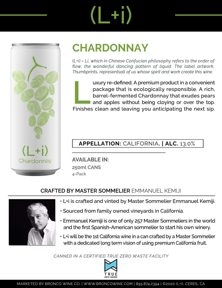 L+i Chardonnay Tech Sheet