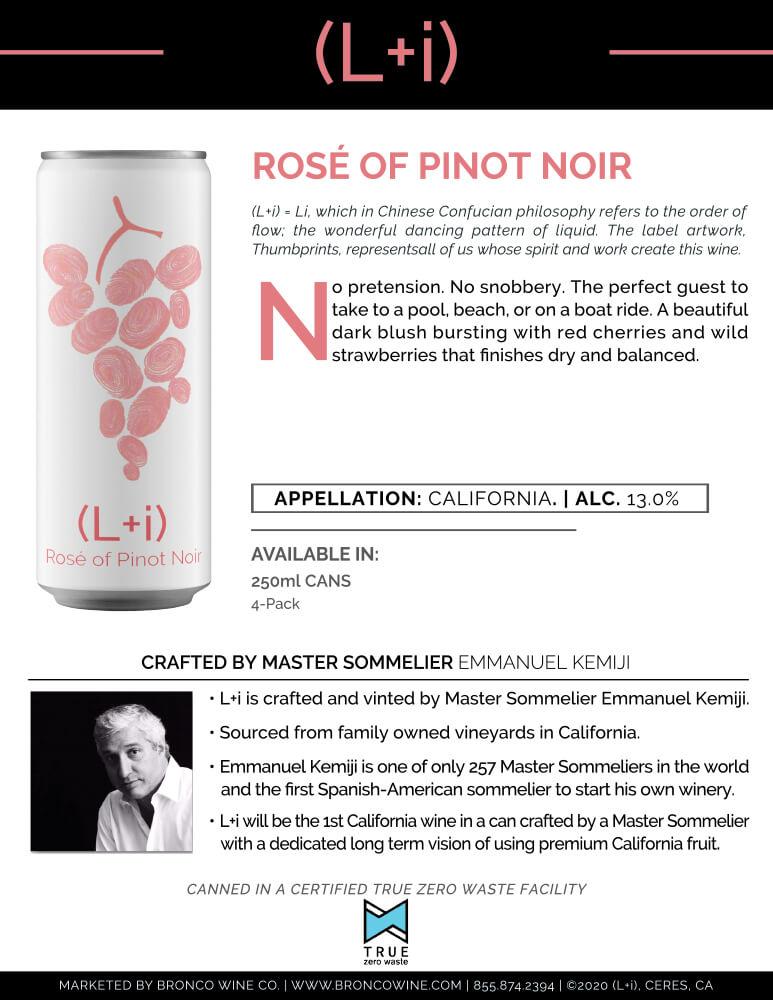 L+i Rosé of Pinot Noir Tech Sheet