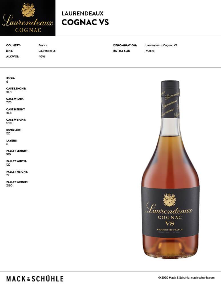 Laurendeaux Cognac VS Tech Sheet