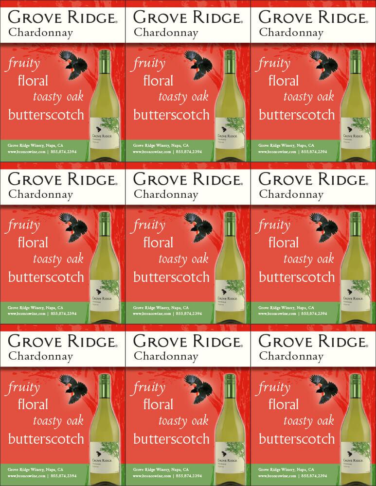 Grove Ridge Chardonnay Shelf Talkers