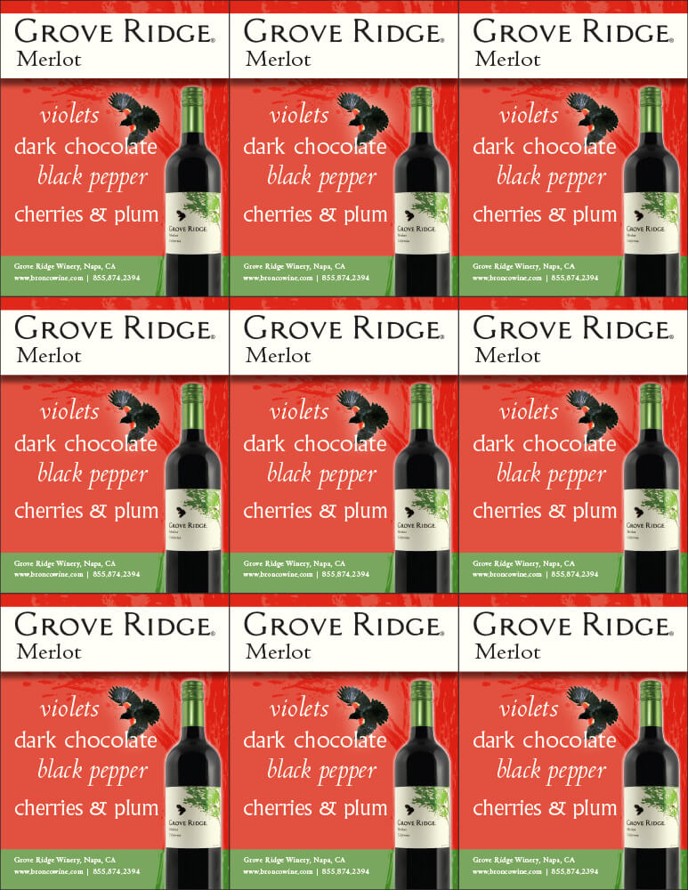 Grove Ridge Merlot Shelf Talkers