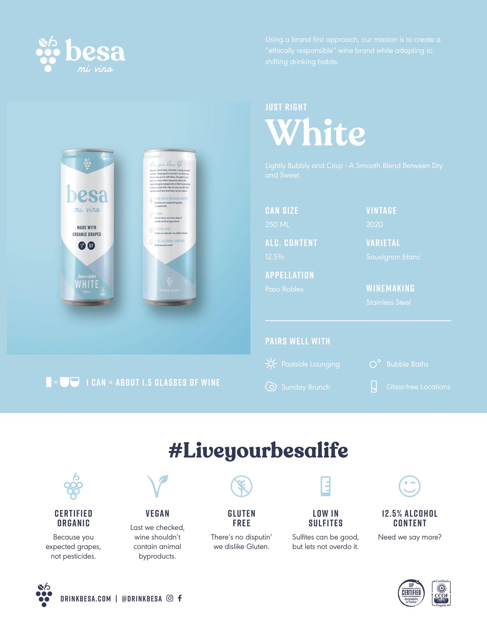 Besa Mi Vino White Tech Sheet