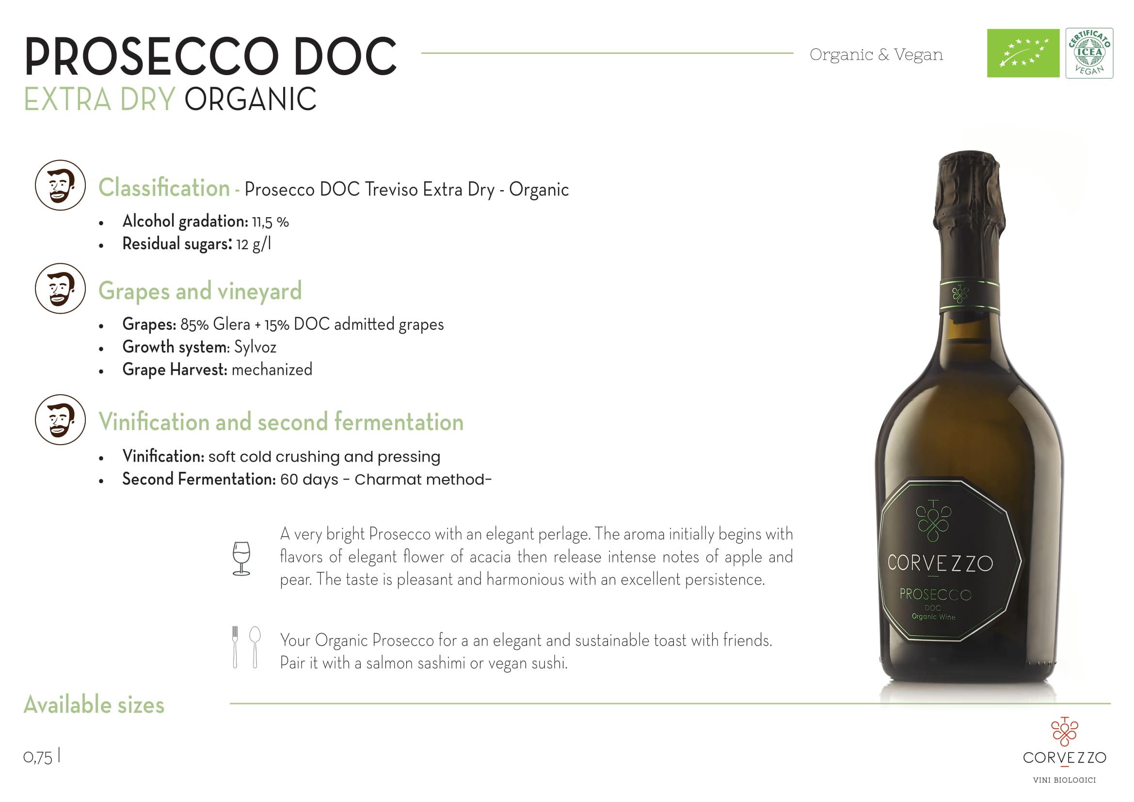 Corvezzo Prosecco Extra Dry Tech Sheet