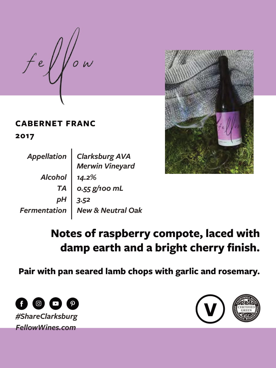 Fellow Wines Cabernet Franc Tech Sheet