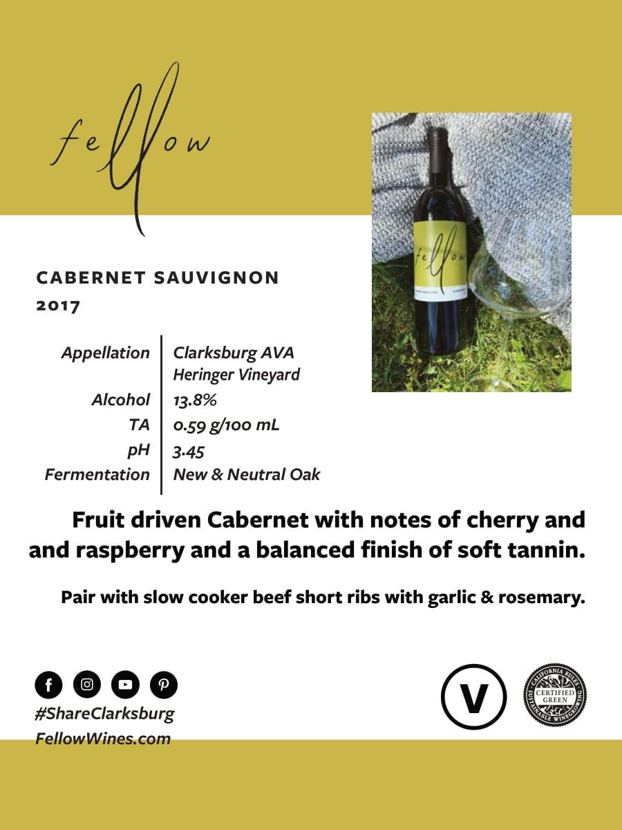 Fellow Wines Cabernet Sauvignon Tech Sheet
