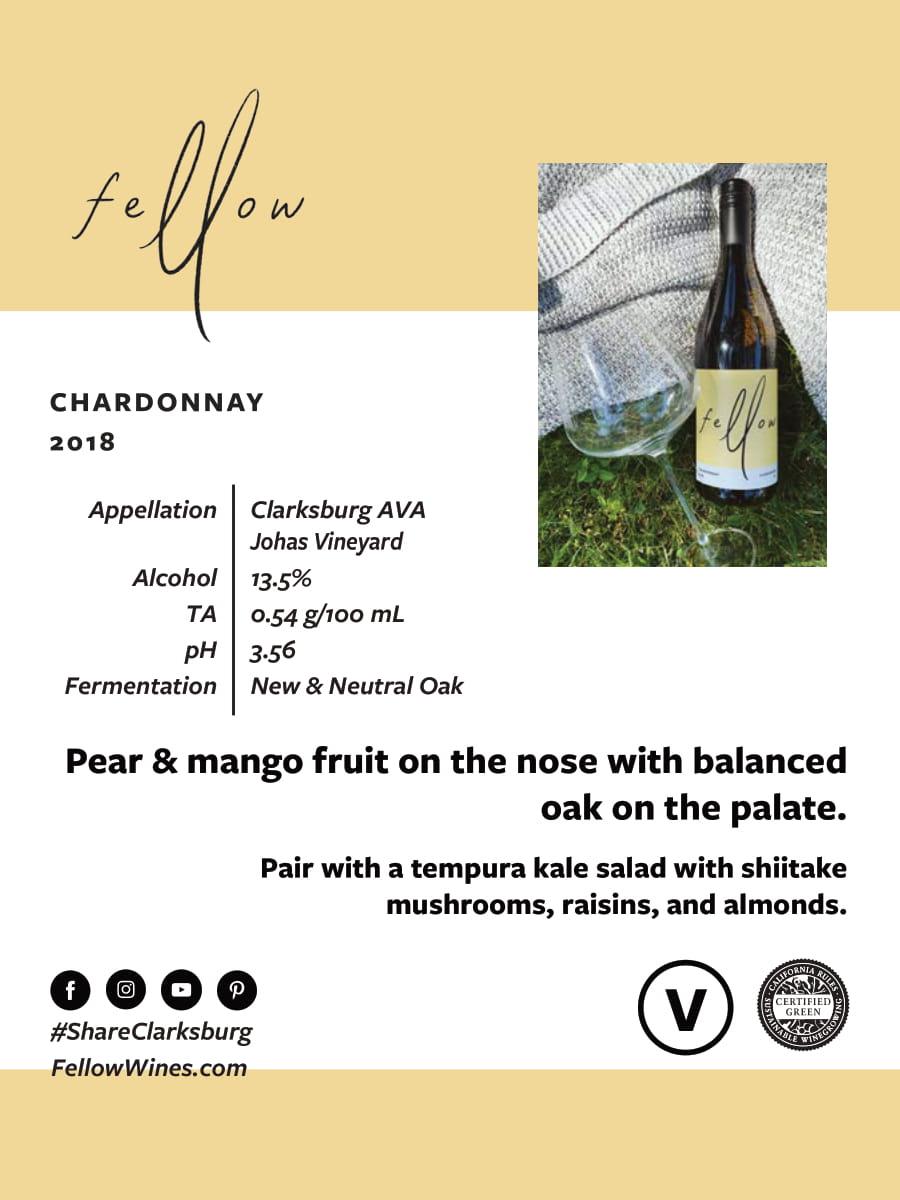 Fellow Wines Chardonnay Tech Sheet
