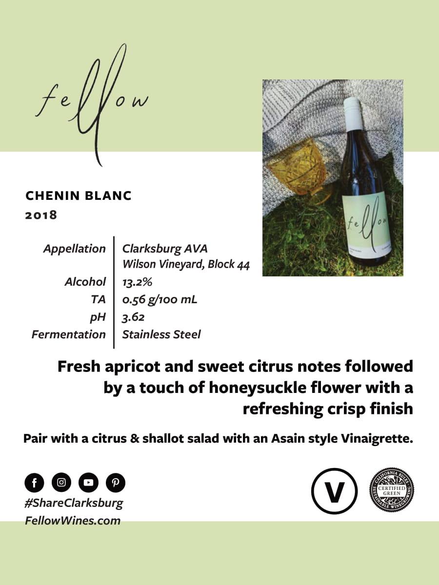 Fellow Wines Chenin Blanc Tech Sheet