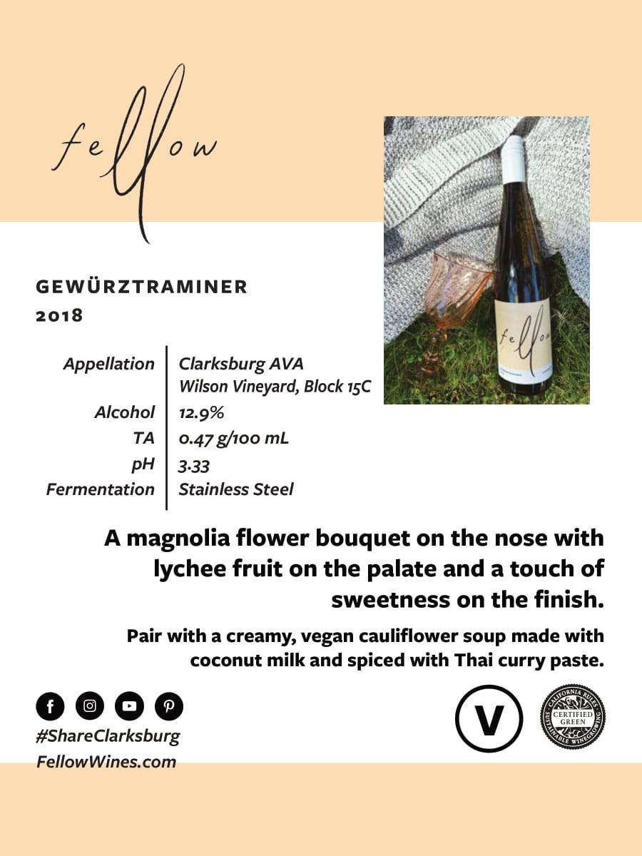 Fellow Wines Gewurztraminer Tech Sheet