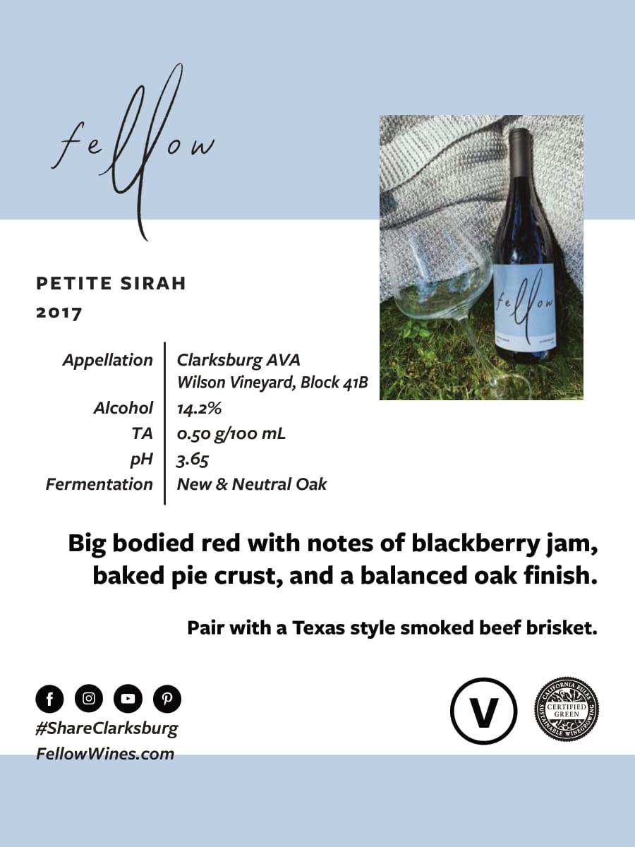 Fellow Wines Petite Sirah Tech Sheet
