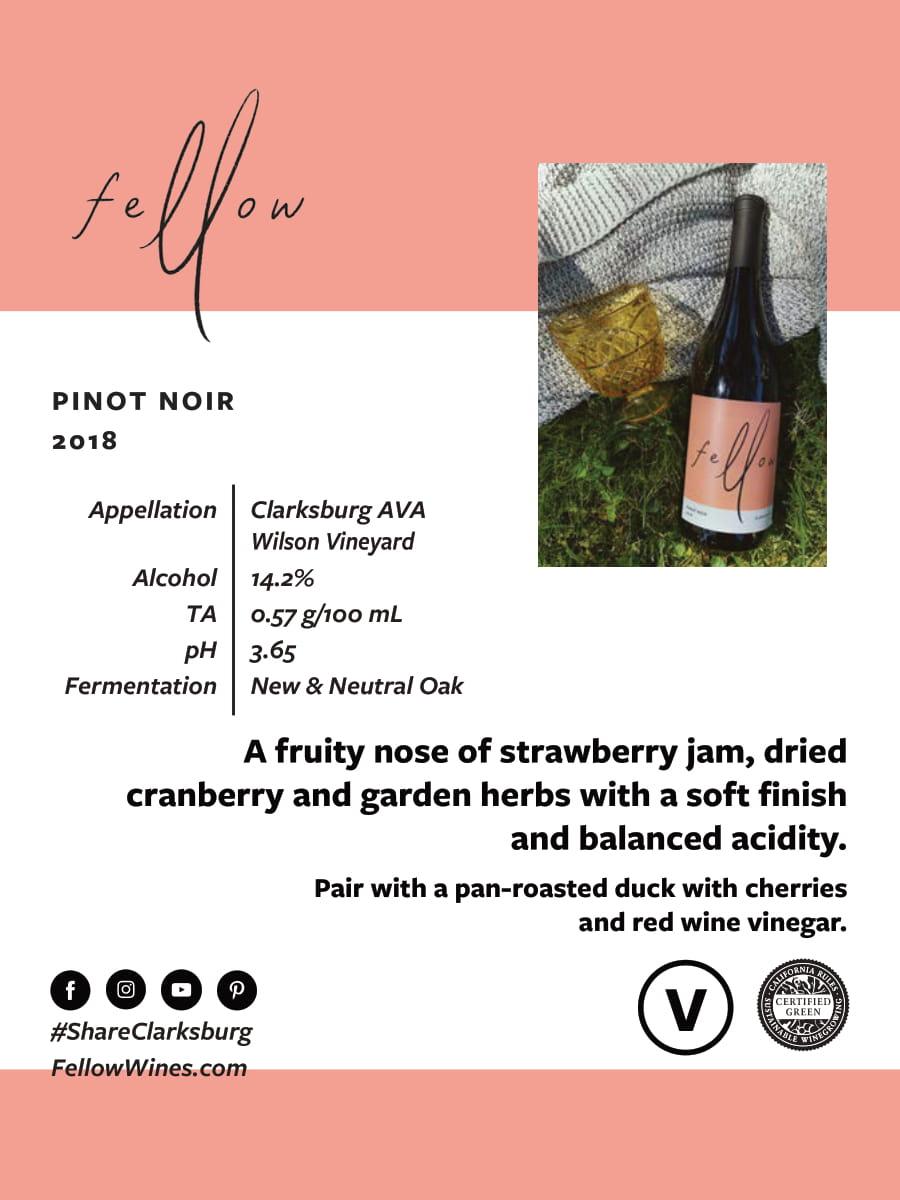 Fellow Wines Pinot Noir Tech Sheet