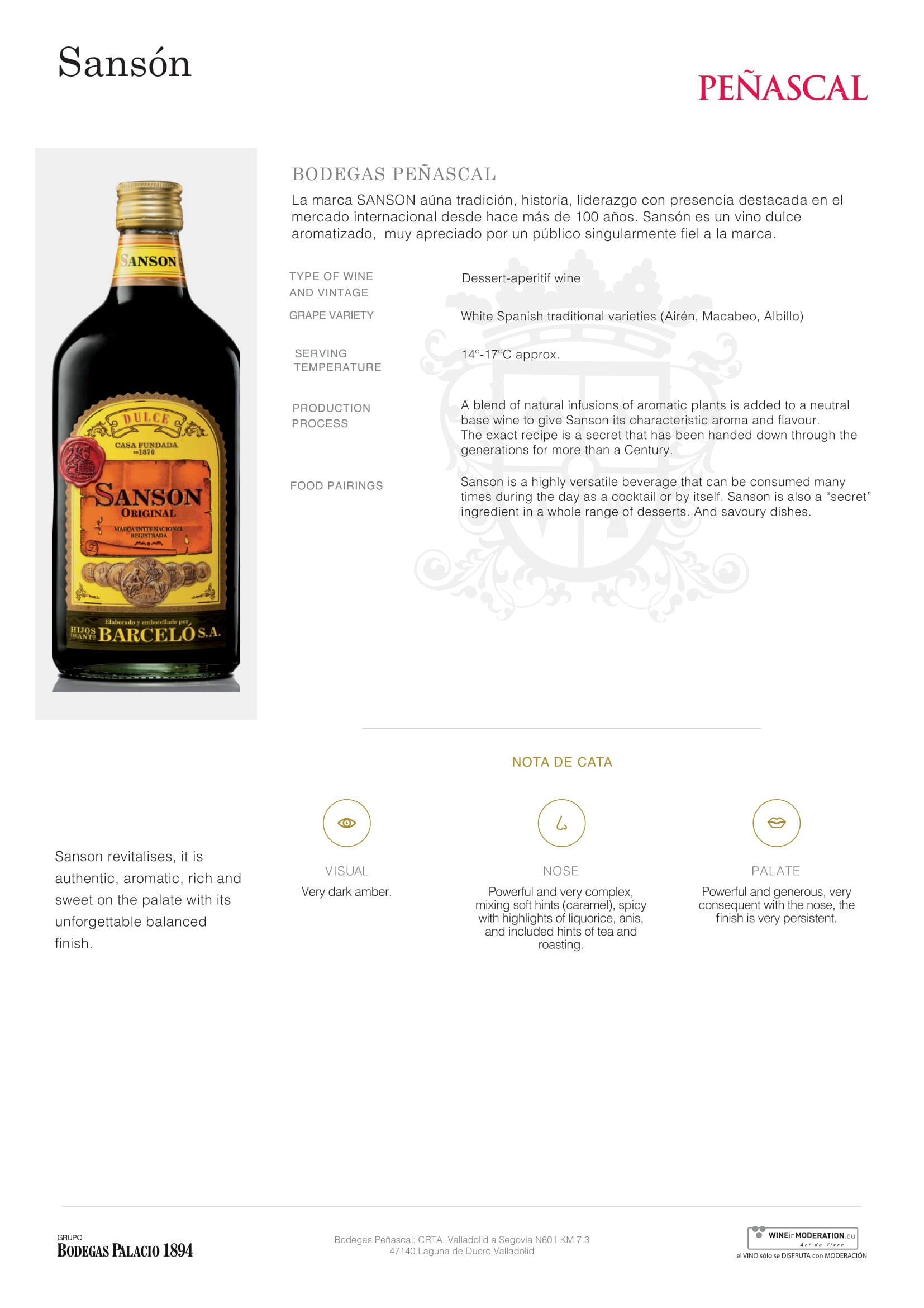 Gran Vino Sanson Tech Sheet