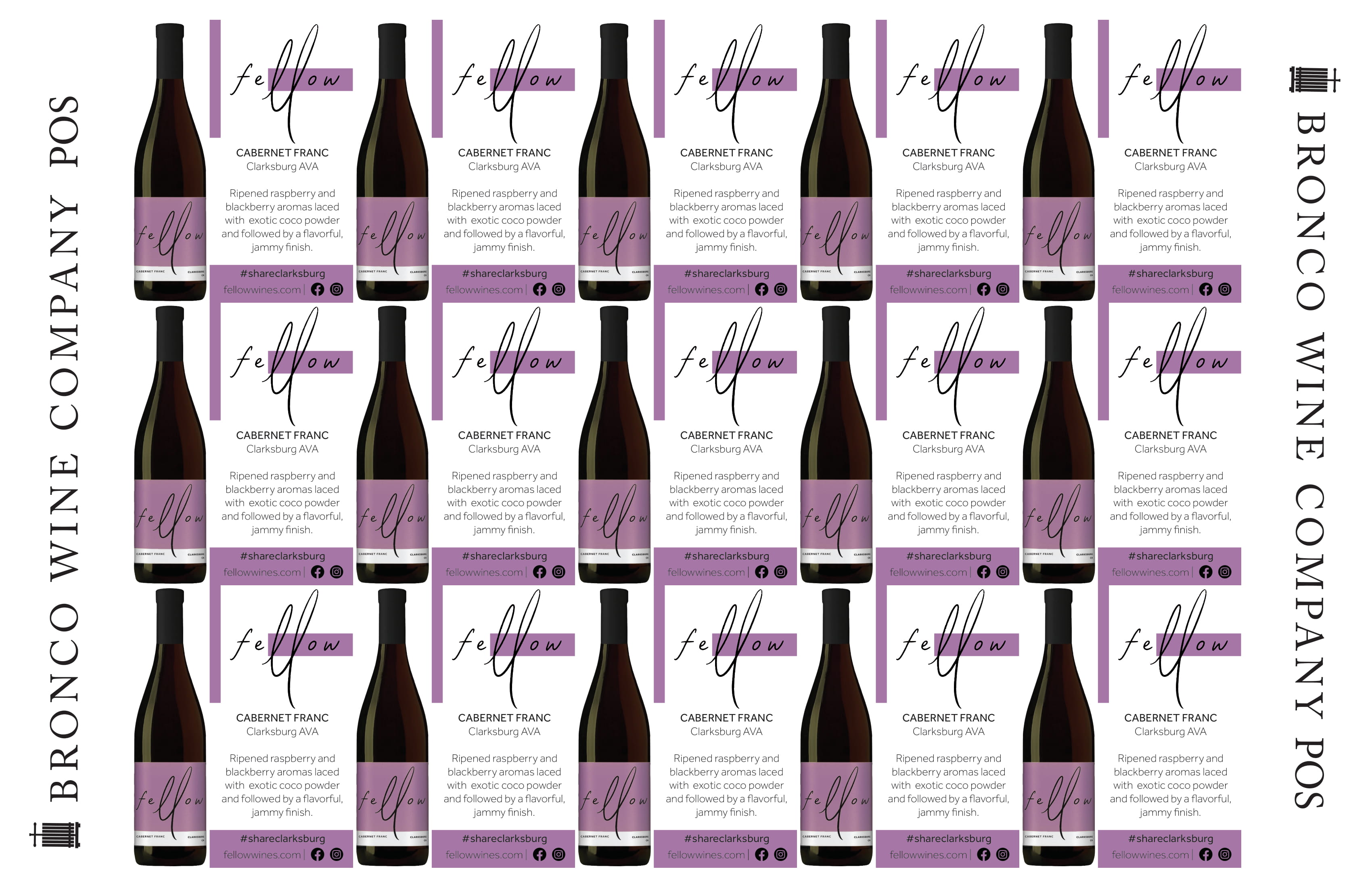 Fellow Wines Cabernet Franc Shelf Talker