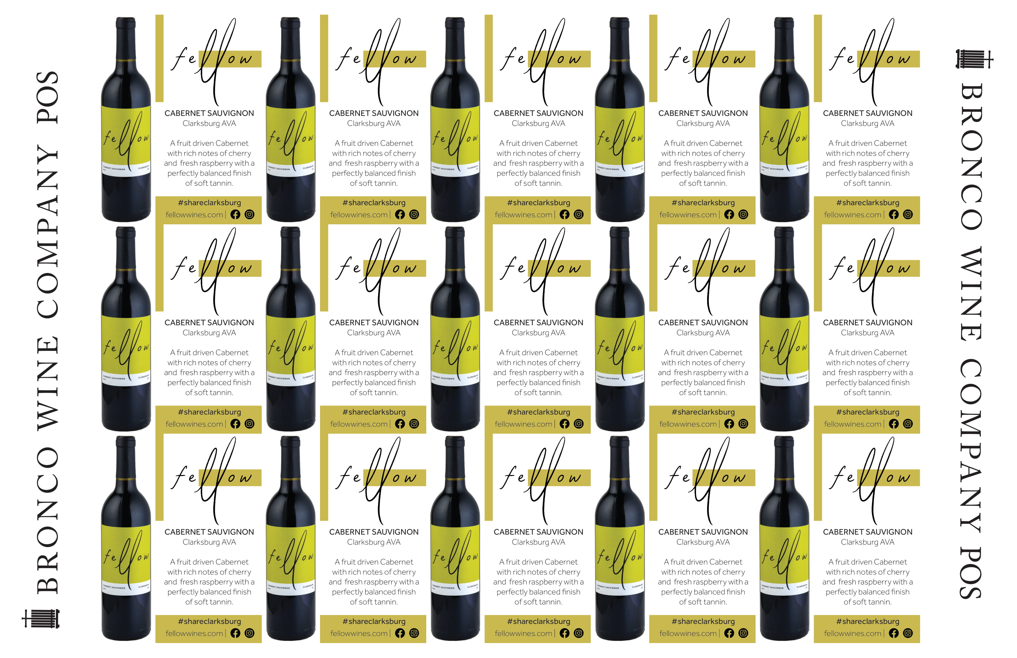 Fellow Wines Cabernet Sauvignon Shelf Talker