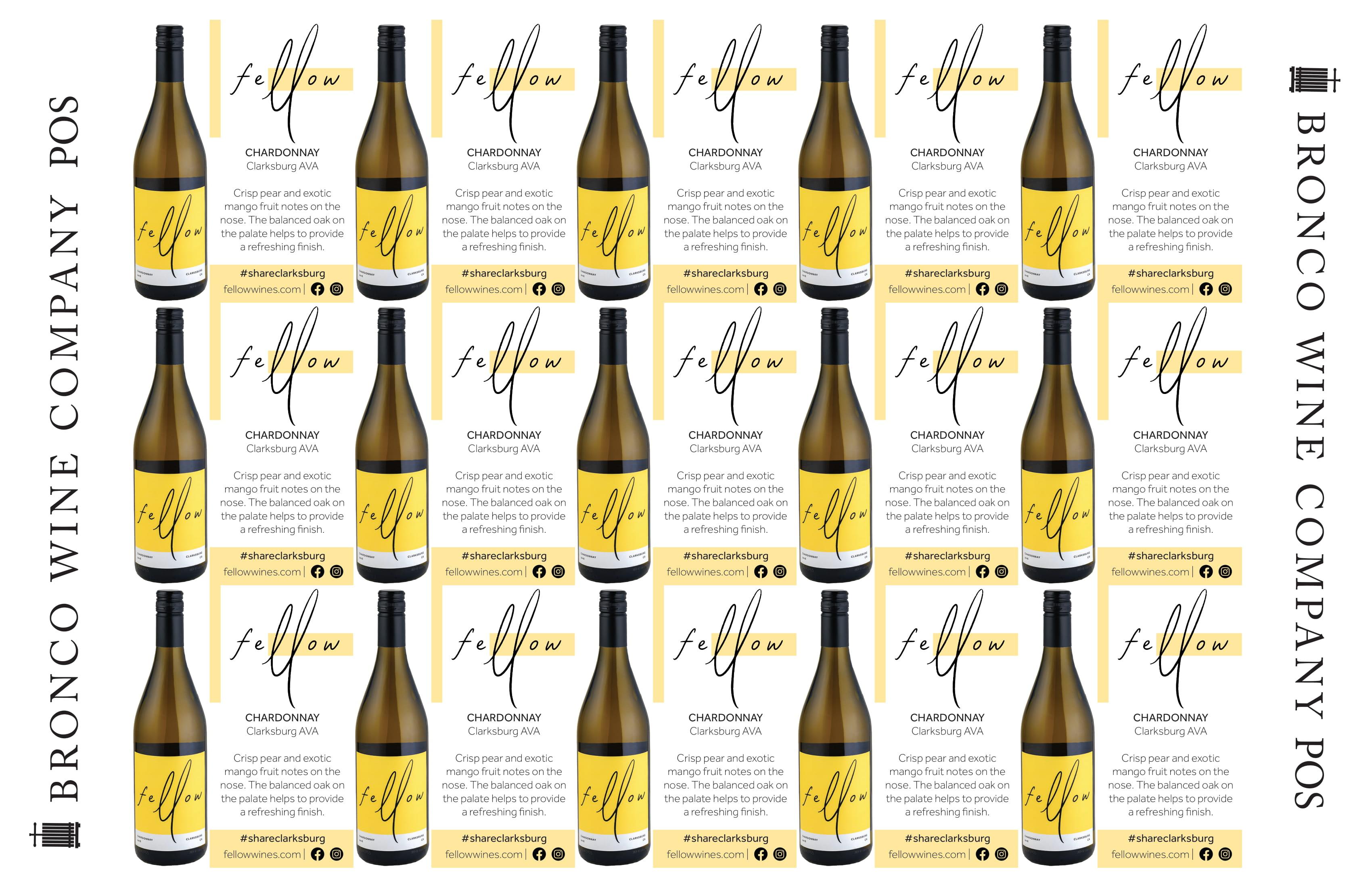 Fellow Wines Chardonnay Shelf Talker