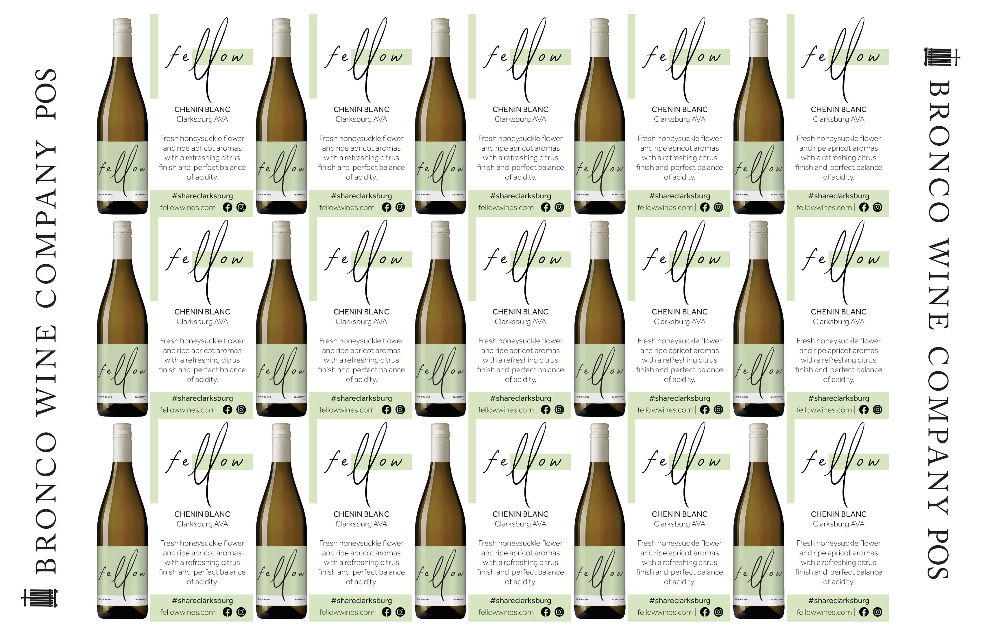 Fellow Wines Chenin Blanc Shelf Talker