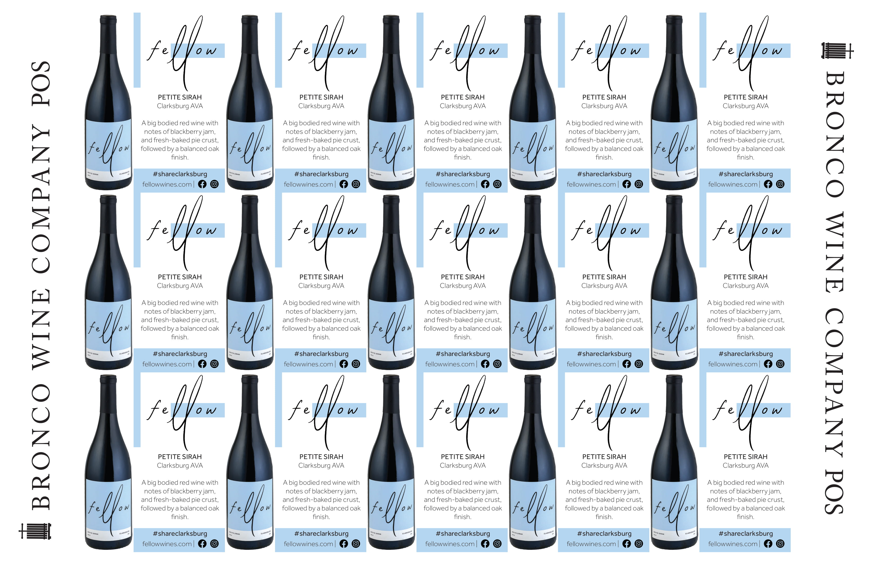 Fellow Wines Petite Sirah Shelf Talker