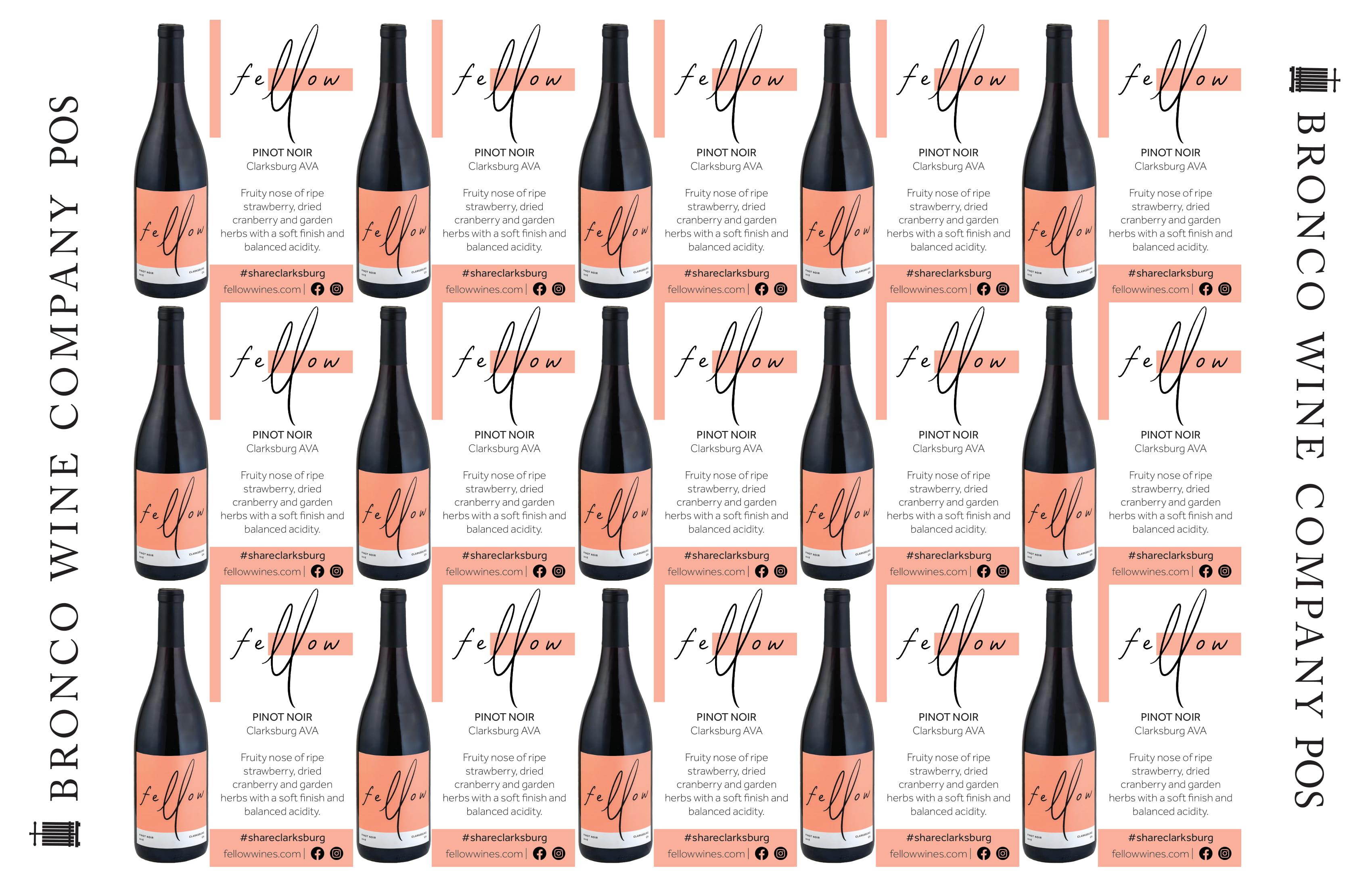 Fellow Wines Pinot Noir Shelf Talker