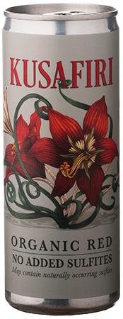 Kusafiri Organic Red Wine Can Bottleshot
