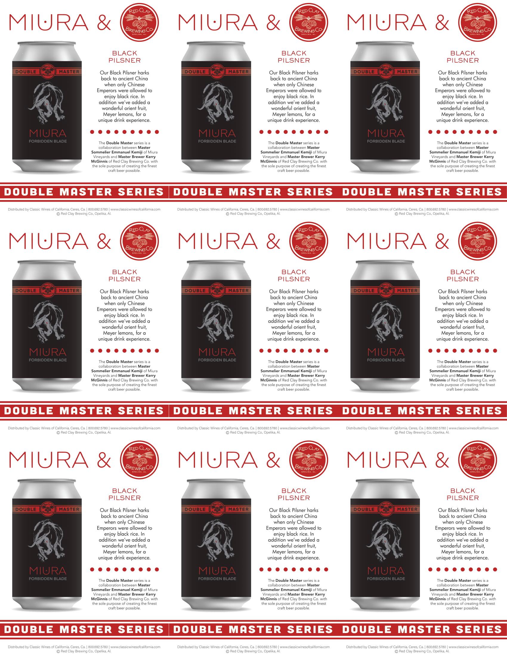 Miura Craft Beer Black Pilsner Shelf Talker
